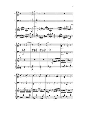 Carl Gottlieb Reissiger - A page from Reißiger's piano trio no. 11 in A minor, opus 125, published in 1838, bars 21-32 from finale