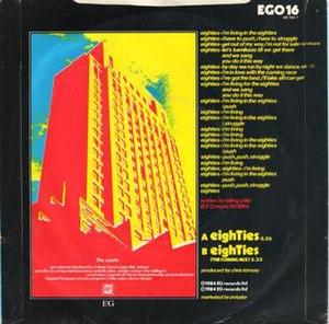 "Eighties (song) - Image: Eighties 7"" B 1984"