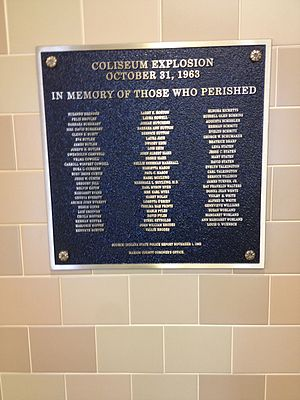 Indiana Farmers Coliseum - Plaque honoring explosion victims 2014