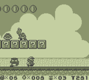 Super Mario Land 2: 6 Golden Coins - Screenshot from Super Mario Land 2