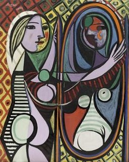 <i>Girl before a Mirror</i> Painting by Pablo Picasso