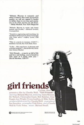 Girlfriends (1978 film) - Theatrical release poster