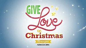 Give Love on Christmas - The Titlecard of Give Love on Christmas when they soonly aired