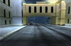 GoldenEye 007 (1997 video game) - The geometry of some of the structures in the film (top) was replicated in the game (bottom).