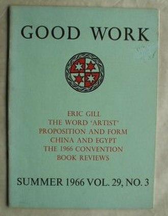 Catholic Art Quarterly - Image: Good Work Magazine