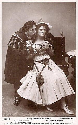 Evelyn Millard - Millard with Lewis Waller in The Harlequin King (1906)