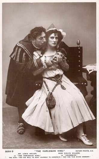 Evelyn Millard - Millard with Lewis Waller in The Harlequin King (1906)