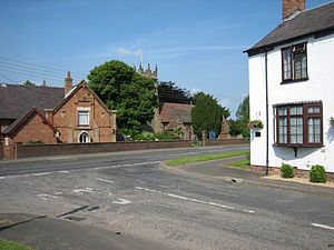 Haughton, Staffordshire - The old Village School, Parish Church and Nation House