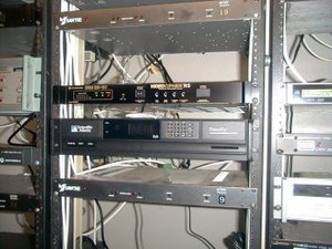 Cable television headend - A standard rack mount headend