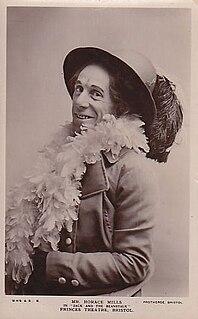 Horace Mills British actor, singer and dramatist