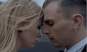 Stay (Hurts song) - Model Anna Thora Alfreds and Theo Hutchcraft in the video.