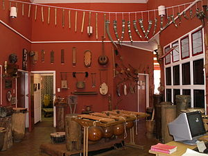 International Library of African Music - Some of the instruments inside ILAM.