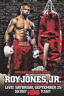 Glen Johnson vs. Roy Jones Jr. Boxing competition