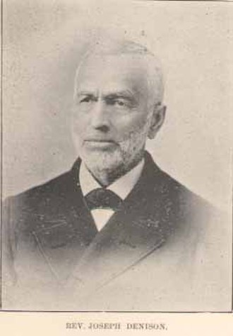 Blue Mont Central College - Joseph Denison, President of Bluemont Central College