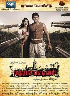 <i>Madrasapattinam</i> 2010 Tamil period film directed by A. L. Vijay