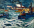 Maurice de Vlaminck, 1905-06, Barges on the Seine (Bateaux sur la Seine), oil on canvas, 81 x 100 cm, Pushkin Museum, Moscow.jpg