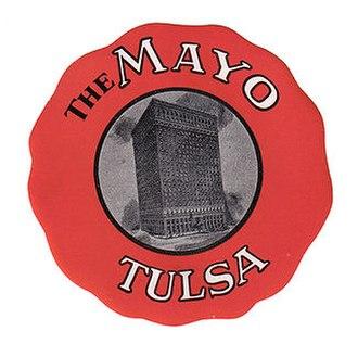 Mayo Hotel - An original luggage sticker from the Mayo Hotel- ca. 1930's