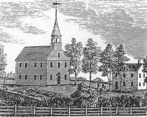 History of Darien, Connecticut - Middlesex Parish Meetinghouse by John Warner Barber, 1837 (built 1744)