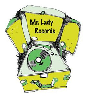 Mr. Lady Records - Sticker used on Mr. Lady vinyl releases.