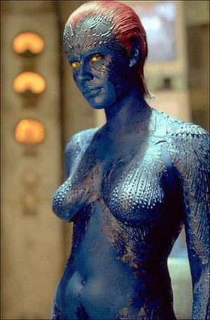 Mystique (comics) - Rebecca Romijn as Mystique in the 2000 film X-Men