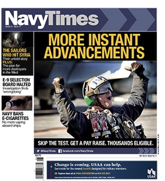 Navy Times - Navy Times cover April 24, 2017
