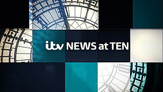 <i>ITV News at Ten</i> Evening news programme, broadcast on ITV