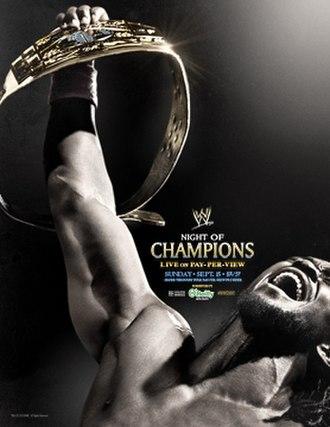 Night of Champions (2013) - Promotional poster featuring Kofi Kingston holding the Intercontinental Championship.