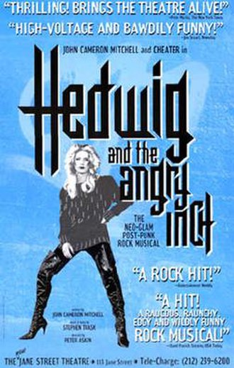 Hedwig and the Angry Inch (musical) - Off-Broadway promotional poster