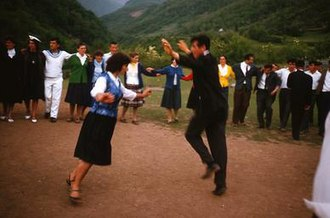 Oro (eagle dance) - Oro being performed at a tribal gathering in the Morača region, 1965