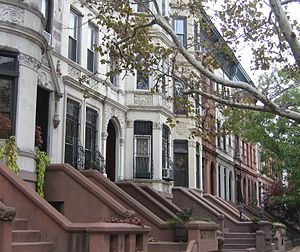 Prospect Heights, Brooklyn - Rowhouses along Park Place in Prospect Heights