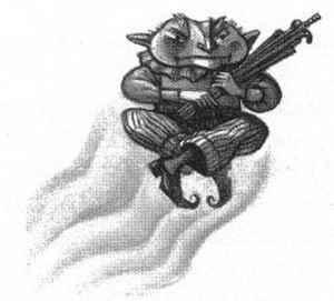Magical creatures in Harry Potter - Mary GrandPré's illustration of Peeves.
