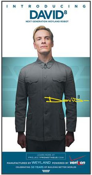 David 8 - A full-page advertisement printed in The Wall Street Journal in 2012, featuring Fassbender as David 8. The character was prominently featured throughout the marketing for Prometheus.