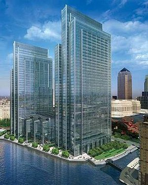 Riverside South (Canary Wharf) - Artist's impression of how Riverside South will appear upon completion.