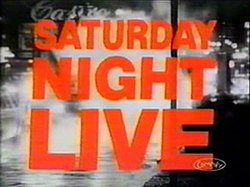 The title card for the ninth season of Saturday Night Live.