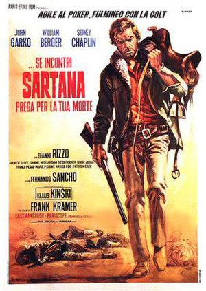 If You Meet Sartana Pray for Your Death - Italian theatrical release poster by Renato Casaro