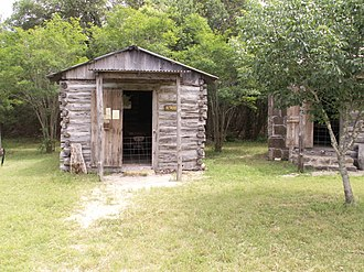 Logan Vandeveer - One room school house now located at Ft. Croghan.