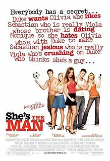 <i>Shes the Man</i> 2006 American romantic comedy film directed by Andy Fickman