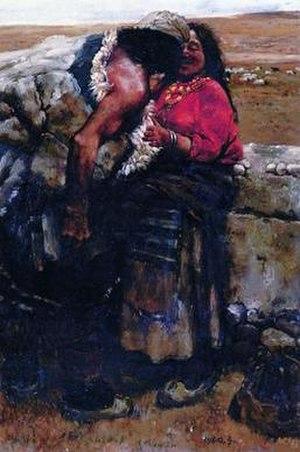 Sheepherder (painting) - Image: Sheepherder (painting)