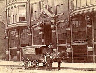 Iver Lawson (publisher) - Skandinaven headquarters in Chicago c. 1890