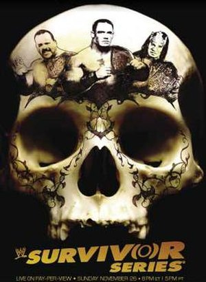 Survivor Series (2006) - Promotional poster of a skull, with Big Show, John Cena, and King Booker on top