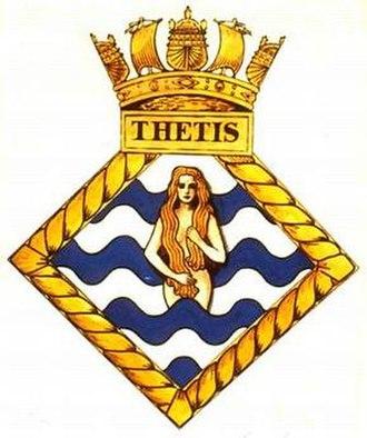 HMS Thetis (N25) - Image: THETIS badge 1