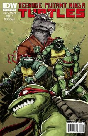 Teenage Mutant Ninja Turtles (IDW Publishing) - The cover of issue number 2. Art by Dan Duncan; colors by Ronda Pattison.