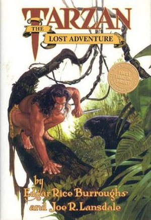Tarzan: The Lost Adventure - Dust-jacket illustration for Tarzan: The Lost Adventure