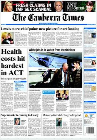 The Canberra Times - Image: The Canberra Times sample p 1