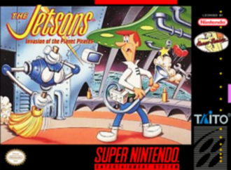 The Jetsons: Invasion of the Planet Pirates - North American cover art