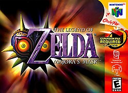 A heart-shaped mask with yellow eyes and spikes around the edges stands behind the title of the game.