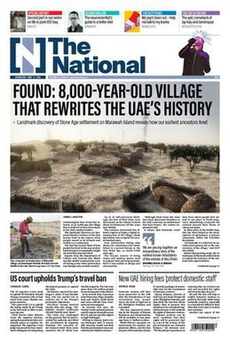 The National (Abu Dhabi) - Front page of The National on 27 June 2018.