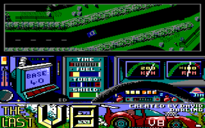 The Last V8 - In-game screen on the Amstrad CPC