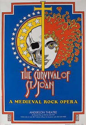 The Survival of St. Joan - poster for the 1971 Anderson Theatre production art by David Edward Byrd