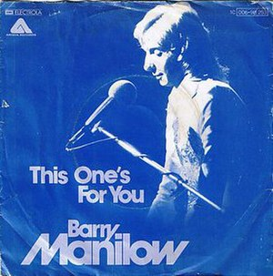 This One's for You (Barry Manilow song) - Image: This One's for You cover